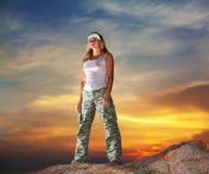 воинская женщина стоковые изображения rf