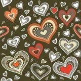 Воинская картина с сердцами Стоковое Изображение
