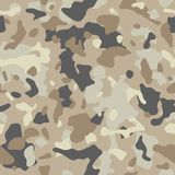 Воинская предпосылка камуфлирования ткани или звероловства картина camo безшовная Брайн, бежевое камуфлирование цвета также векто иллюстрация вектора