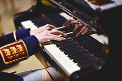 Воинская форма оркестра во время концерта Стоковая Фотография