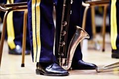 Воинская форма оркестра во время концерта Стоковые Фото