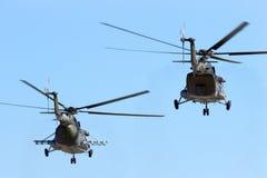 Воинские вертолеты груза Mi-171 Стоковая Фотография