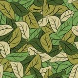 Воинские листья текстуры Камуфлирование армии листвы Безшовная картина иллюстрация штока