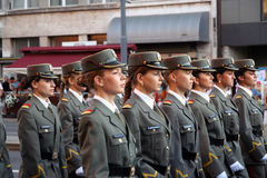 Воинские кадеты Стоковые Изображения RF