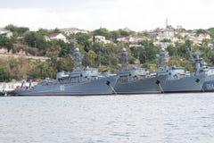 Воинские корабли на койке стоковые изображения rf