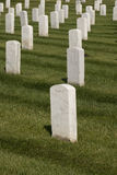 воинские надгробные плиты белые Стоковое Изображение RF