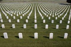 воинские надгробные плиты белые Стоковое Изображение