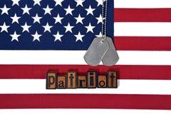 Воинские регистрационные номера собаки для патриота Стоковое Изображение