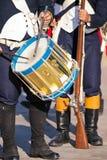 Воинский барабанщик стоковые изображения rf