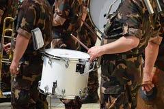 Воинский барабанщик стоковое фото rf