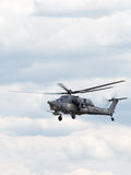 Воинский вертолет Mi-28 в полете Стоковое фото RF