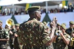 воинский гражданский парад празднуя независимость Бразилии стоковые фотографии rf