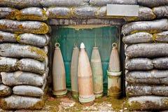 Воинский дзот с боеприпасыом стоковое изображение