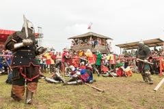 Воинский и исторический фестиваль реконструкция Стоковые Фото