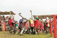 Воинский и исторический фестиваль реконструкция Стоковые Изображения