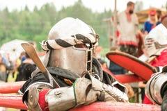 Воинский и исторический фестиваль реконструкция Стоковое фото RF
