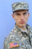 Воинский кавказский здоровый портрет человека армии Стоковая Фотография RF