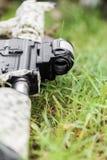 Воинский конец-вверх винтовки оружия Стоковые Фотографии RF
