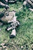 Воинский конец-вверх винтовки оружия Стоковая Фотография RF