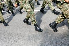 Воинский маршировать стоковое изображение