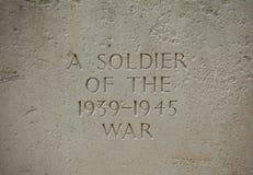 Воинский могильный камень в Франции Стоковое Фото
