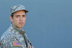 Воинский молодой человек Портрет студии Стоковые Изображения RF