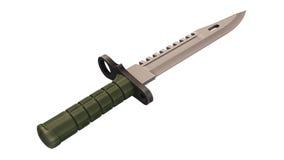 Воинский нож, оружие на белизне Стоковая Фотография