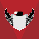 Воинский орел эмблемы Стоковые Фотографии RF
