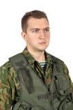 Воинский портрет военнослужащего Стоковые Фотографии RF