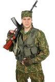Воинский портрет военнослужащего Стоковое Изображение