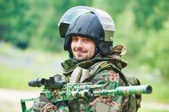Воинский портрет солдата Стоковые Изображения RF