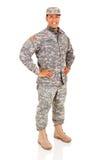 Воинский представлять военнослужащего Стоковое фото RF