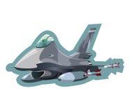 Воинский реактивный истребитель Стоковые Фото
