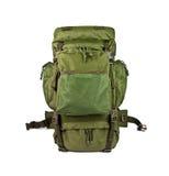 Воинский рюкзак изолированный на белой предпосылке Стоковые Изображения