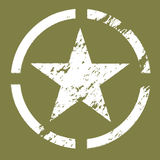 воинский символ звезды Стоковое фото RF