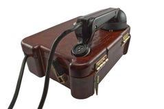 воинский старый телефон Стоковая Фотография