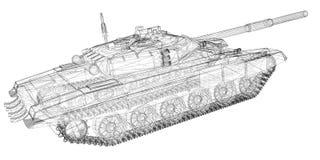 Воинский танк Стоковое фото RF