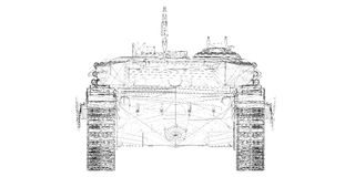 Воинский танк Стоковое Изображение
