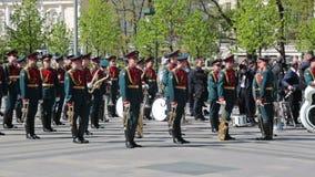 Воинский духовой оркестр сток-видео