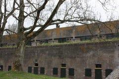 Воинский форт Vechten в Bunnik в Нидерландах Стоковая Фотография
