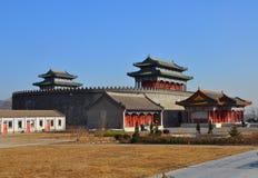 Воинский Hall в круглом городе в династии Qing Стоковое Изображение RF