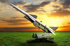 Воинское оборудование Запустите установку направленную на небо Стоковая Фотография