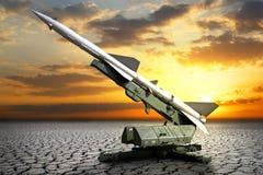 Воинское оборудование Запустите установку направленную на небо Стоковое Фото