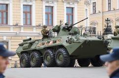 Воинское оборудование на улицах Стоковое Изображение