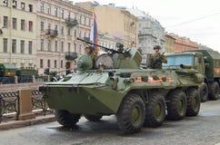 Воинское оборудование на улицах Стоковое фото RF