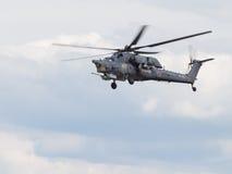 Воинское Mi-28 в полете Стоковое фото RF