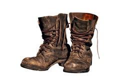 воины ботинок старые работают worn Стоковые Фотографии RF