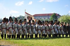воины в марше стоковые фотографии rf