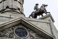 Воины и памятник матросов Стоковая Фотография