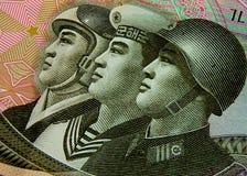 воины Кореи северные Стоковые Фото